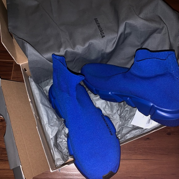 balenciaga blue trainer
